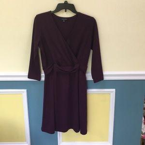 Autumn Burgundy LAND'S END dress